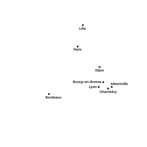 Transports de Savoie - répartition des Agences